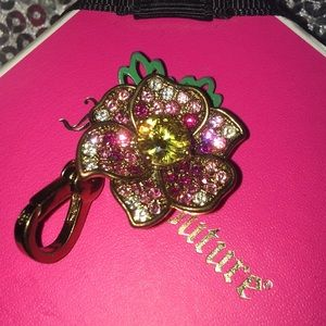 AUTHENTIC Limited edition rhinestone flower charm